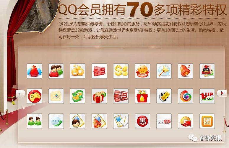 QQ会员5折活动,60元购买1年QQ会员 刚需的参与!