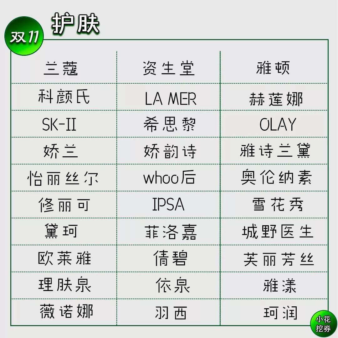 2019年天猫双十一美妆护肤大牌好物推荐!