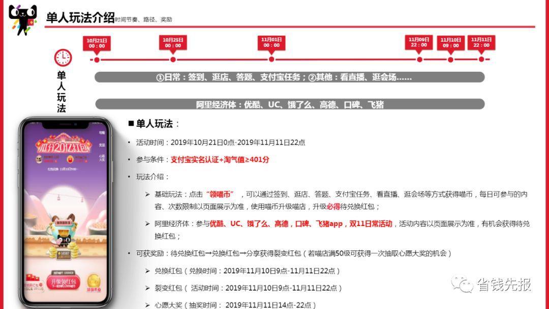 【更新】2019双十一天猫京东红包活动合集,20多个活动至少50!