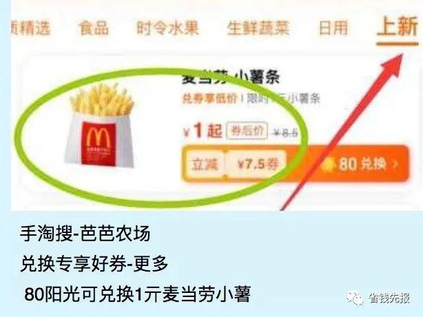 麦当劳免费兑换券冰淇淋汉堡券!